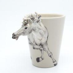 White Horse Ceramic Mug