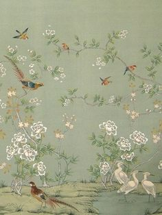 I love this wallpaper! How great this would look on an accent wall