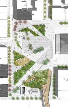 Resultado de imagen para diseño plaza publica