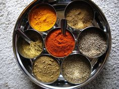 Chat Masala (awesome veggie seasoning)    Ingredients:    1 1/3 T ground cumin  2 2/3 t ground coriander  1 1/3 t pepper  2 t salt (I recommend Real Salt.)
