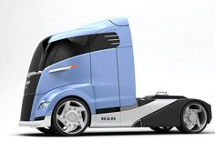 Futuristic concept truck...hubby will be driving again in the New World...bye bye again...ok, ok, I'll go with you....