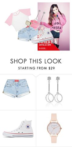 """""""BLACKPINK Rose As If It's Your Last Pt.2"""" by eva-salad on Polyvore featuring Rebecca Joseph, Converse and Olivia Burton"""