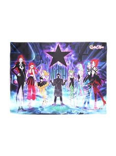 Sailor Moon Witches 5 Fabric Poster,