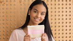 Take a closer look at our c. noctem zip pouch, built to hold and keep your tampons safe #organictampons #tampons #organic #cottontampons #tamponholder #tamponcase #cottonlinen #unbleached #period
