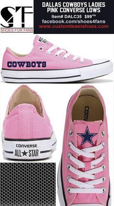 1660ff93847366 Women s Dallas Cowboys Low Top Pink Converse Shoes
