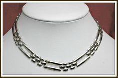 Napier necklace Silvertone links collar by serendipitytreasure