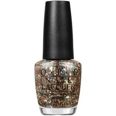 Opi When Monkeys Fly ($7.32) ❤ liked on Polyvore featuring beauty products, nail care, nail polish, beauty, nails, makeup, cosmetics, gold glitter, womens-fashion and opi nail polish