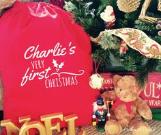 First Christmas Santa Sack,Christmas Sack,1st Christmas,Personalized Santa Sack,Personalised Santa Sack,Christmas Stocking,Stocking,Gift Bag