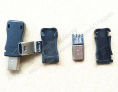 10pcs Mini USB 5 Pin T Port Male Plug Socket Connector&Plastic Cover for DIY Dropshipping Top Sale