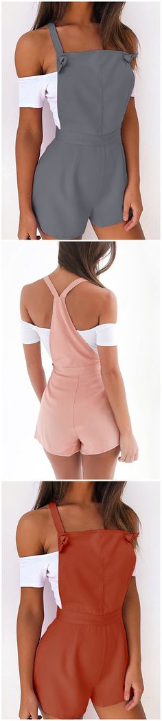 Casual Tie-Strap Playsuits