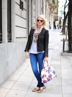 Comfy casual- especially love the All Saints leather jacket