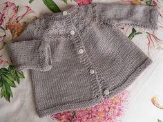 tuto tricot cardigan à empiècement rond 6 mois en français