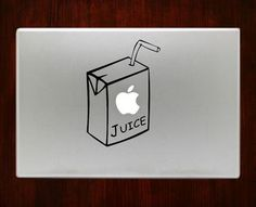 Our customizable Apple Juice Humor Decal Sticker Vinyl For Macbook Pro/Air 13,15 inch Macbook are made out of highest quality vinyl. Shop over Mac +1000's designs at Decal On Top.