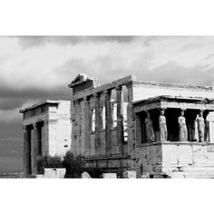 """CANVAS PRINT """"The Pillars of Athens"""" by Drew Venegas Lenskraft Fine... (€125) ❤ liked on Polyvore featuring home, home decor, wall art, image, photographic wall art, outside wall art, outdoor wall art, photography wall art and outside home decor"""
