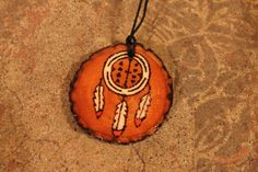"""Nahko and Medicine for the People Wood Burned Dreamcatcher Necklace - """"I believe in the good things coming"""" by allysonanthony on Etsy https://www.etsy.com/listing/482292078/nahko-and-medicine-for-the-people-wood"""