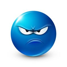 ☻☻☻ SMILEYS & EMOTICONS ☻☻☻ ~ This smiley is definitely dissatisfied about something or maybe even someone. Animated Smiley Faces, Emoticon Faces, Funny Emoji Faces, Animated Emoticons, Funny Emoticons, Emoji Pictures, Emoji Images, Funny Pictures, Blue Emoji