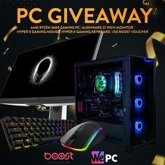 🚨 Giveaway Alert! 🚨 We have teamed up with boost gaming to give you the chance to win a brand new gaming PC bundle worth over £2k!💥  To enter all you have to do is ⬇ Follow the link over to instagram and complete the entry requirements!  🔁 Pin this post to spread the word! T&C's apply. Ends 16/04/2021 11:59pm (bst) Gamer Quotes, Gaming Pc Build, Custom Pc, Alienware, News Games, Giveaway, How To Apply, Group, Link