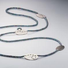 www.ORRO.co.uk - Brigitte Adolph - Silver & Pearl Loop Necklace - ORRO Contemporary Jewellery Glasgow