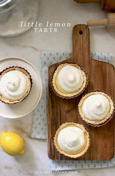 I love lemon pie.  What could be cuter than a mini version of a favorite?  They are so cute, and individual sizes are perfect for enter...