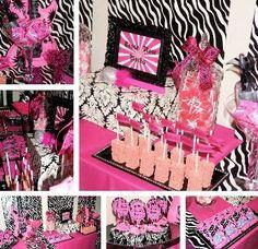 Pink Rock Star Dessert Buffet