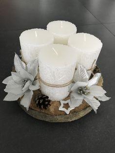Adventni venec Pillar Candles, Christmas, Decor, Floral Arrangements, Flower Arrangements, Candle Arrangements, Xmas, Corona, Decoration