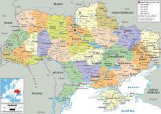 Political Map of Ukraine - Ezilon Maps |  ▼ ✂ 20160707,1449 do