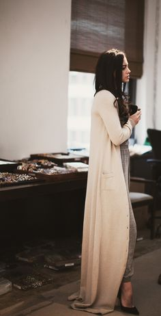 The Long Cardigan.