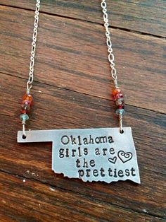 OKLAHOMA Girls are the Prettiest Necklace with by fortyoneSparkles