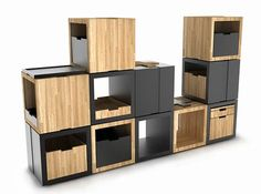 Seat, Shelf or Storage: B_Cube Modular Furniture Lets You Decide & Mix It Up : TreeHugger