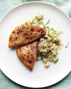 Tilapia and Quinoa with Feta and Cucumber - Martha Stewart Recipes