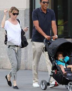 Ellen Pompeo (Grey's Anatomy) and a Baby Jogger City Mini Single Stroller
