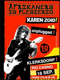is plesierig - are fun Female Rock Stars, Karen, Afrikaans, South Africa, Songs, Wall Collage, My Love, Musicians, Posters