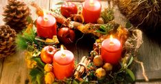 Table Decorations, Eat Smarter, Home Decor, Christmas Ideas, Christmas Deco, Candles, Rustic, Tutorials, Tips