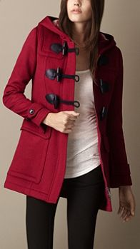 Pea coat with toggle buttons love it. Really like the longer length