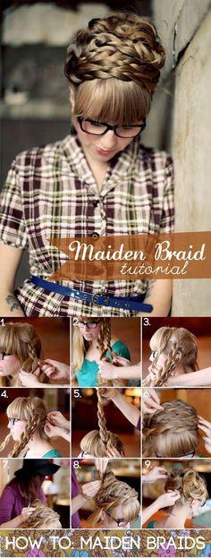How to: Maiden Braids #braids #hair #tutorial