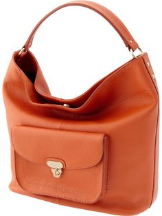 This orange leather hobo would blend right in with the changing leaves.