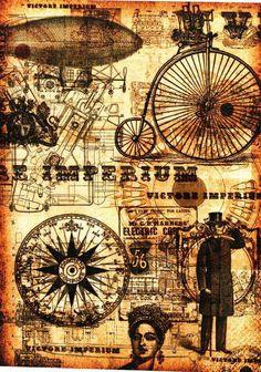 Debbi moore Designs Vintage Art, Vintage World Maps, Debbie Moore, Steampunk Cards, Paper Illustration, Illustrations, Journal Cards, Junk Journal, Etiquette Vintage