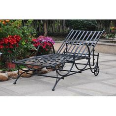 #outdoorchairs  #loungechairs #outdoorreclinerchair #patio #outdoor SEE MORE patio lounge chairs at http://zpatiofurniture.com/index.php?cat=1716=meta_value=price=asc  Iron Patio Chaise Lounge « zPatioFurniture.com