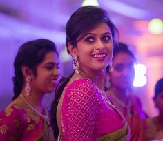 Diamond earrings and nose pin Kerala Bride, South Indian Bride, Lehenga Saree Design, Maggam Work Designs, Bridal Makeover, Simple Blouse Designs, Indian Bridal Hairstyles, Dress Making Patterns, Wedding Function