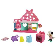 minnie mouse bake shop toy; cupcakes
