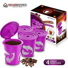 FROZ-CUP 2.0 - 4 Refillable/Reusable K-Cups for Keurig 2.0 - K300, K350, K400, K450, K500, K550 Series and all 1.0 Brewers (4-Pack) - http://teacoffeestore.com/froz-cup-2-0-4-refillablereusable-k-cups-for-keurig-2-0-k300-k350-k400-k450-k500-k550-series-and-all-1-0-brewers-4-pack/