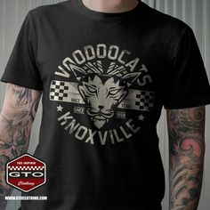 Voodoocats Racing Team Men's T-Shirt – The cat that delivers maximum acceleration! For guys and girls which are in love with vintage looking retro racing gear and apparel. Exclusively available at GTO Clothing! Order; www.gtoclothing.com