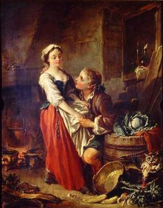 Francois Boucher The Beautiful Kitchen Maid print for sale. Shop for Francois Boucher The Beautiful Kitchen Maid painting and frame at discount price, ships in 24 hours. Classic Paintings, Great Paintings, Beautiful Paintings, Caravaggio, Kitchen Maid, Art Ancien, French Rococo, Rococo Style, Vanitas