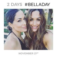 Are you ready for #BellaDay?! We're just two days away... @thebriebella @thenikkibella