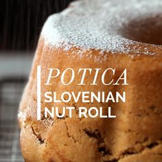 Potica (Slovenian Nut Roll) Potica is Slovenian Nut Roll that's traditionally eaten on Easter and Christmas. Brioche dough filled with rich walnut filling. Easy recipe for a tasty cake. Easy Desserts, Dessert Recipes, Easter Recipes, Recipes Dinner, Slovenian Food, Slovak Recipes, Macedonian Food, Pound Cake Recipes, Polish Recipes