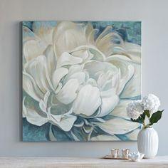 'White Peony' Acrylic On Canvas