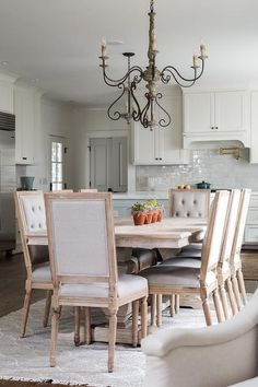 French square back dining chairs