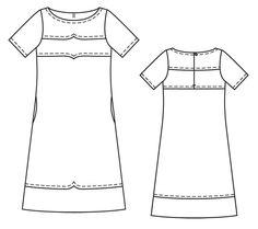 Платье - выкройка № 129 из журнала 12/2013 Burda – выкройки платьев на Burdastyle.ru