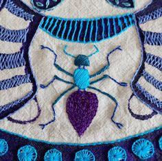 La hormiga de Micaela | Bordado a mano sobre manta cruda | Gineceo, María Tenorio, 2014