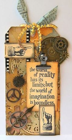 Hi folks.woohoo the start of another fabulous inspirational journey in the company of Mr Tim Holtz.time for the first of the Tags o. Atc Cards, Card Tags, Gift Tags, Vintage Tags, Steampunk Cards, Timmy Time, Handmade Tags, Handmade Diary, Paper Tags
